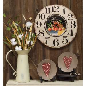 #75007 Apples Picked Daily Clock