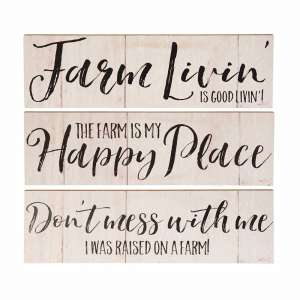 Farm Livin' Wall Sign, 3 asst. - # 34313
