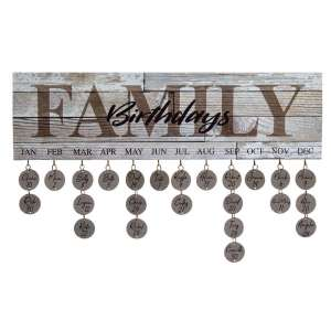 Family Birthdays Calendar - # 34358
