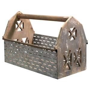 Galvanized Olive Bucket Barn Carrier - # 60226