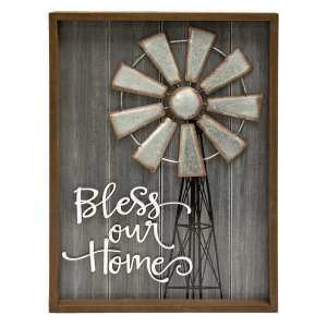 Bless This Home Windmill Sign - # 60224