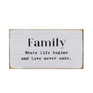 Simply Farmhouse Family Block - # 90547