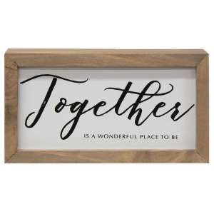 Together is a Wonderful Place Framed Box Sign - # 34221C