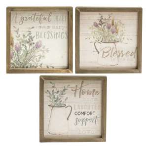 {[en]:Grateful Heart Framed Sign, 3 asst.
