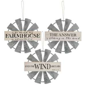 Farmhouse Hanging Windmill Sign- # 34370