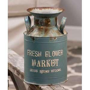 {[en]:Vintage Fresh Flower Market Milk Can -