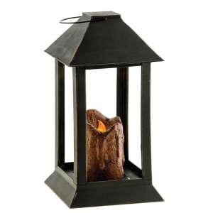 84634 - Burnt Mustard Pillar Lantern, 12 inch