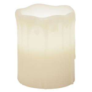 "{[en]:White Drip Pillar - 3"" x 4"""