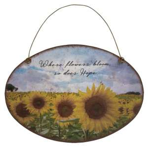 {[en]:Sunflower Metal Wall Hanging