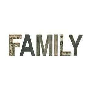 FAMILY Block Letters - # 33058