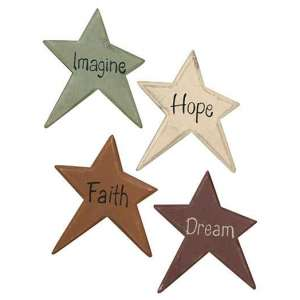 Star Magnet with Words - 4/bag - # 33094