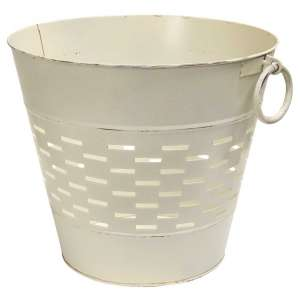 "Farmhouse White Olive Bucket - 12"" - GV8850LW1"