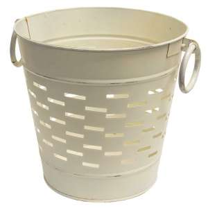 "Farmhouse White Olive Bucket - 9"" - # GV8850SW1"