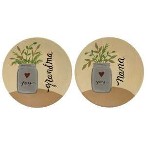 Love You Nana, Grandma Decorative Plates - 2 asst - # 34409