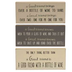 {[en]:Friends and Wine Blocks - Stoneware Colors, 3 asst.