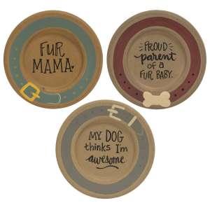 {[en]:Fur Mama Plate, 3 asst.