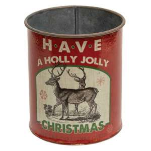 {[en]:Holly Jolly Christmas Metal Can