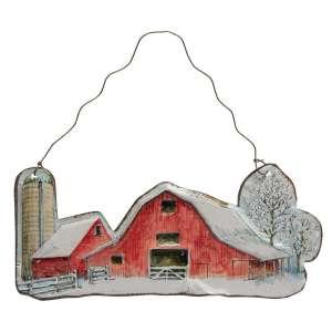 {[en]:Winter Farm Scene Ornament